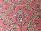 SCALAMANDRE HUDSON PAISLEY BELLE JARDIN COLLECTION FABRIC CORAL