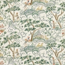 SCALAMANDRE KELMESCOTT HAND BLOCK PRINT FABRIC LEAF ON IVORY
