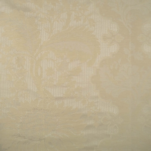SCALAMANDRE KILFANE SILK DAMASK FABRIC BEIGE