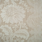 SCALAMANDRE KILFANE SILK DAMASK FABRIC TAUPE