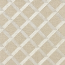 SCALAMANDRE  LATTICE EMBROIDERY FABRIC FLAX