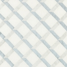 SCALAMANDRE LATTICE EMBROIDERY FABRIC WATER
