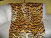 SCALAMANDRE LE TIGRE SILK VELVET FABRIC TIGER CUSTOM THROW IVORY GOLD BROWN