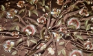 SCALAMANDRE LESS MORE EMBROIDERED JACOBEAN SATIN FABRIC 14 YARDS