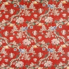 SCALAMANDRE LOUIS XV SILK LAMPAS FABRIC MULTI ON CHINESE