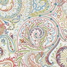 SCALAMANDRE MALABAR PAISLEY EMBROIDERY FABRIC BLOOM