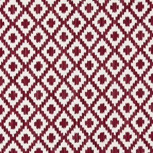 SCALAMANDRE MALAY IKAT WEAVE JACQUARD FABRIC RASPBERRY
