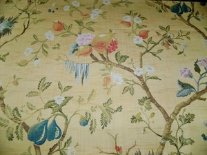 SCALAMANDRE MELOGRANO SILK LAMPAS COLONY COLLECTION MAIZE