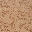 SCALAMANDRE PALERMO VELVET PAISLEY FABRIC COPPER