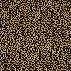 SCALAMANDRE PANTHERA VELVET FABRIC EBONY