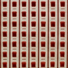 SCALAMANDRE PITTI CUT VELVET FABRIC ROUGE 5 YARD MIN.