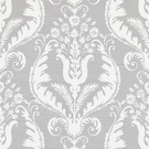 SCALAMANDRE PRIMAVERA PRINT FABRIC FRENCH GREY