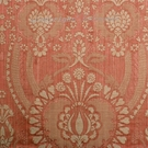 SCALAMANDRE PUGIN FABRIC CREAM ON CORAL STRIE