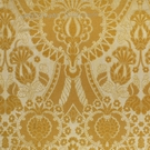 SCALAMANDRE PUGIN FABRIC GOLD ON YELLOW STRIE
