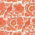 SCALAMANDRE RESIST PRINT COTTON FABRIC LIMITED AVAILABILITY TANGERINE - 5 YARD MINIMUM