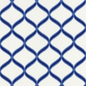 SCALAMANDRE RONDURE EMBROIDERY FABRIC COBALT