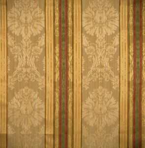 SCALAMANDRE SANTA MARGARITA STRIPE DAMASK FABRIC MULTI BEIGE GOLD