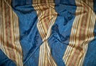 SCALAMANDRE SANTA MARGARITA STRIPE DAMASK FABRIC MULTI COBALT GOLD RED