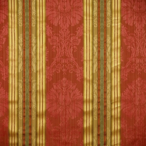 SCALAMANDRE SANTA MARGARITA STRIPE DAMASK FABRIC MULTI ROSE GOLD