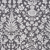 SCALAMANDRE SHALIMAR EMBROIDERED FABRIC CHARCOAL