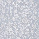SCALAMANDRE SHALIMAR EMBROIDERED FABRIC SKY