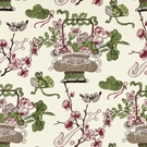 SCALAMANDRE SHANGHAI BLOSSOMS FABRIC MULBERRY