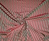 SCALAMANDRE SHIRRED STRIPE TAFFETA & REPP STRIPE SILK FABRIC 10 YARDS BRICK RED BURGUNDY/GOLD