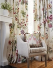 SCALAMANDRE SOMERSET LINEN PRINT FLORAL BIRDS FABRIC BLOOM