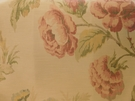SCALAMANDRE SOMERSET SILK WARP PRINT FLORAL BIRDS FABRIC BLOOM