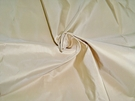 SCALAMANDRE SOTTO VOCE SILK TAFFETA FABRIC FRENCH VANILLA