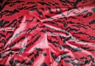 SCALAMANDRE STYLE TIGRE SILK VELVET FABRIC BLACK RED