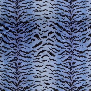 SCALAMANDRE TIGRE CUT VELVET FABRIC BLUE