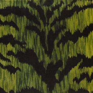 SCALAMANDRE TIGRE CUT VELVET FABRIC GREEN