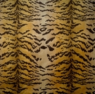 SCALAMANDRE TIGRE CUT VELVET FABRIC IVORY GOLD BROWN MODIFIED