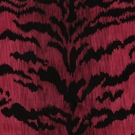 SCALAMANDRE TIGRE CUT VELVET FABRIC  RED
