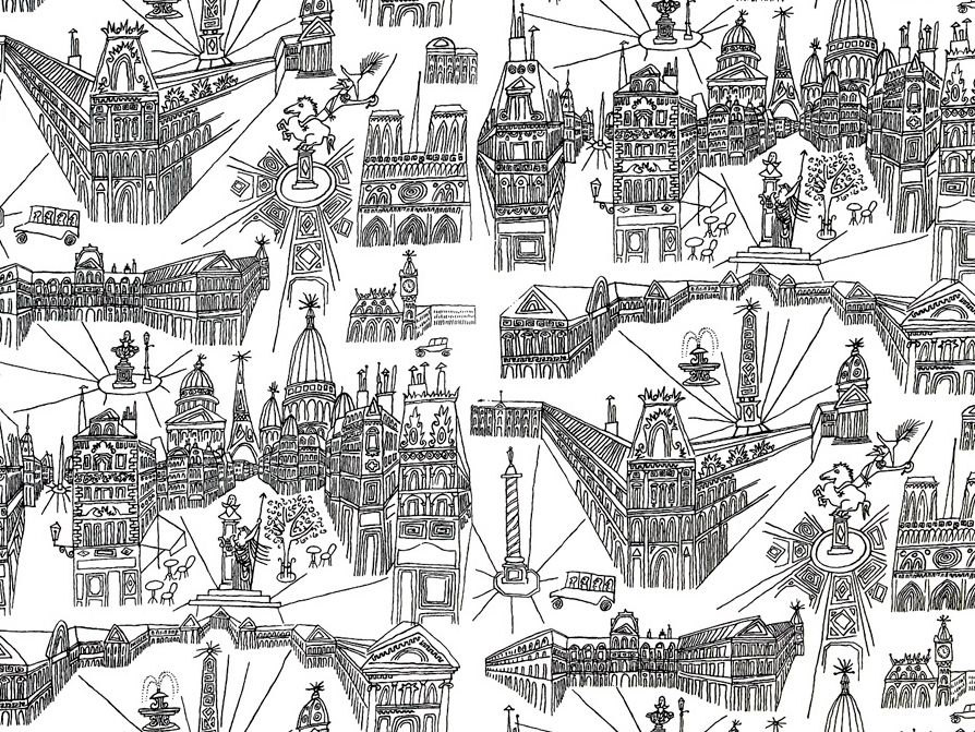 Paris Cotton Toile Fabric