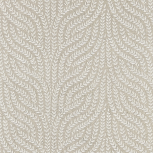 SCALAMANDRE WILLOW VINE EMBROIDERY FABRIC FLAX