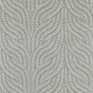 SCALAMANDRE WILLOW VINE EMBROIDERY FABRIC FRENCH GREY