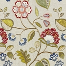 SCALAMANDRE WILLOWOOD EMBROIDERY FLORAL LINEN FABRIC BLOOM