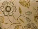 SCALAMANDRE WILLOWOOD EMBROIDERY FLORAL LINEN FABRIC SUMMER SAGE