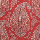SCALAMANDRE WYNYARD PAISLEY MEDALLION FABRIC RED