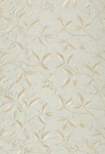 SCHUMACHER ADELAIDE EMBROIDERY SILK FABRIC CIEL