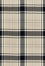 SCHUMACHER ALEXANDER TARTAN WOOL PLAID FABRIC GREIGE