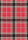 SCHUMACHER ALEXANDER TARTAN WOOL PLAID FABRIC ROUGE