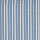 SCHUMACHER ANTIQUE TICKING STRIPE FABRIC BLEU