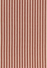 SCHUMACHER ANTIQUE TICKING STRIPE FABRIC CAYENNE