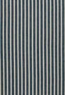 SCHUMACHER ANTIQUE TICKING STRIPE FABRIC DENIM