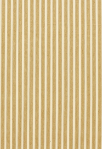 SCHUMACHER ANTIQUE TICKING STRIPE FABRIC DESERT