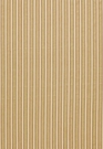 SCHUMACHER ANTIQUE TICKING STRIPE FABRIC SANDALWOOD