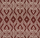 SCHUMACHER ASAKA IKAT ETHNIC CHIC FABRIC RAISIN